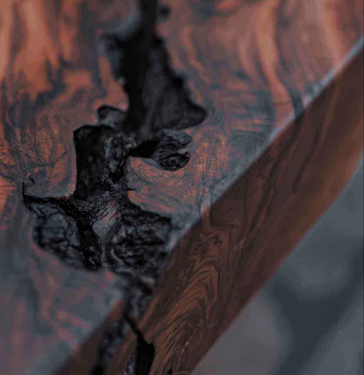 Dettaglio degli arredi lavorati a mano di Vener Tailor made art